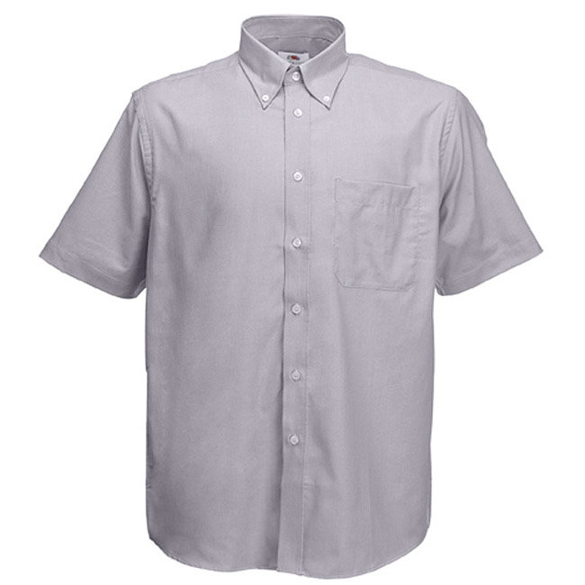 "Рубашка ""Short Sleeve Oxford Shirt"" серая, размер L"